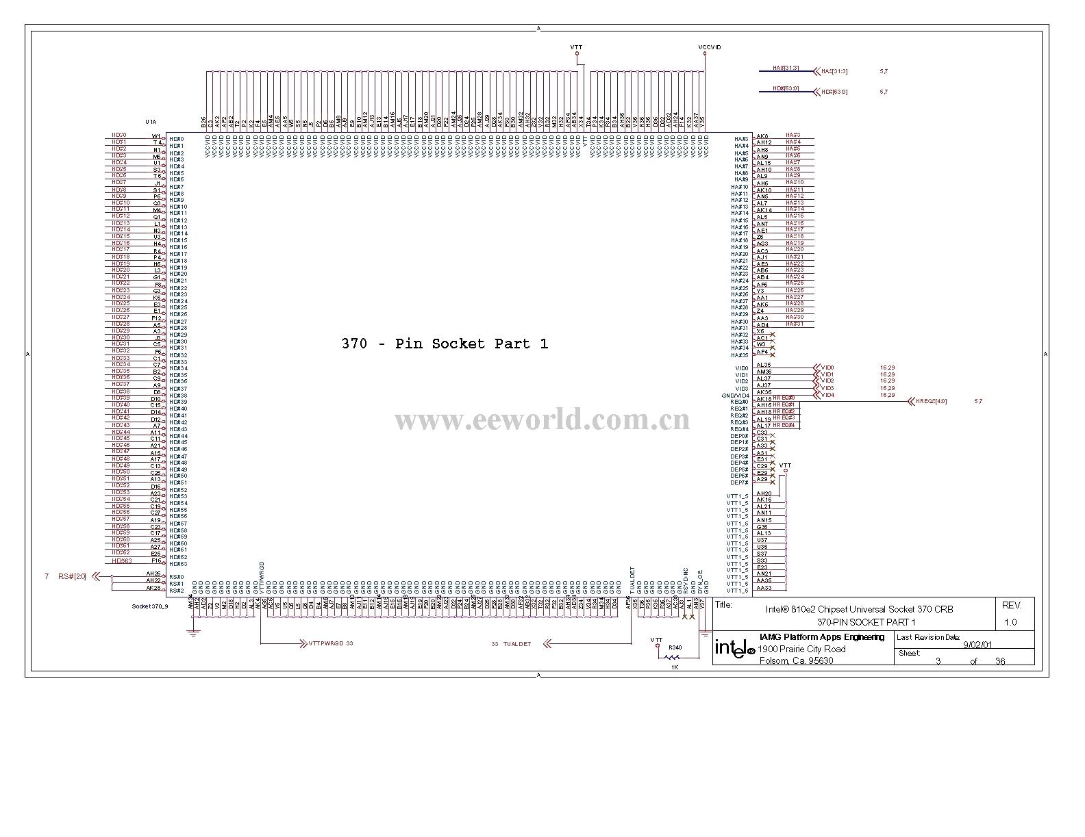 810 Computer Motherboard Circuit Diagram 03