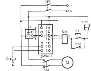 QM9403 singlephase motor protection circuit  Protection_Circuit  Control_Circuit  Circuit