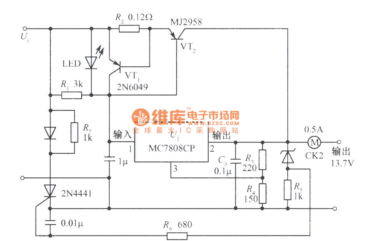 Low Cost Power Supply With A Variety Of Protection