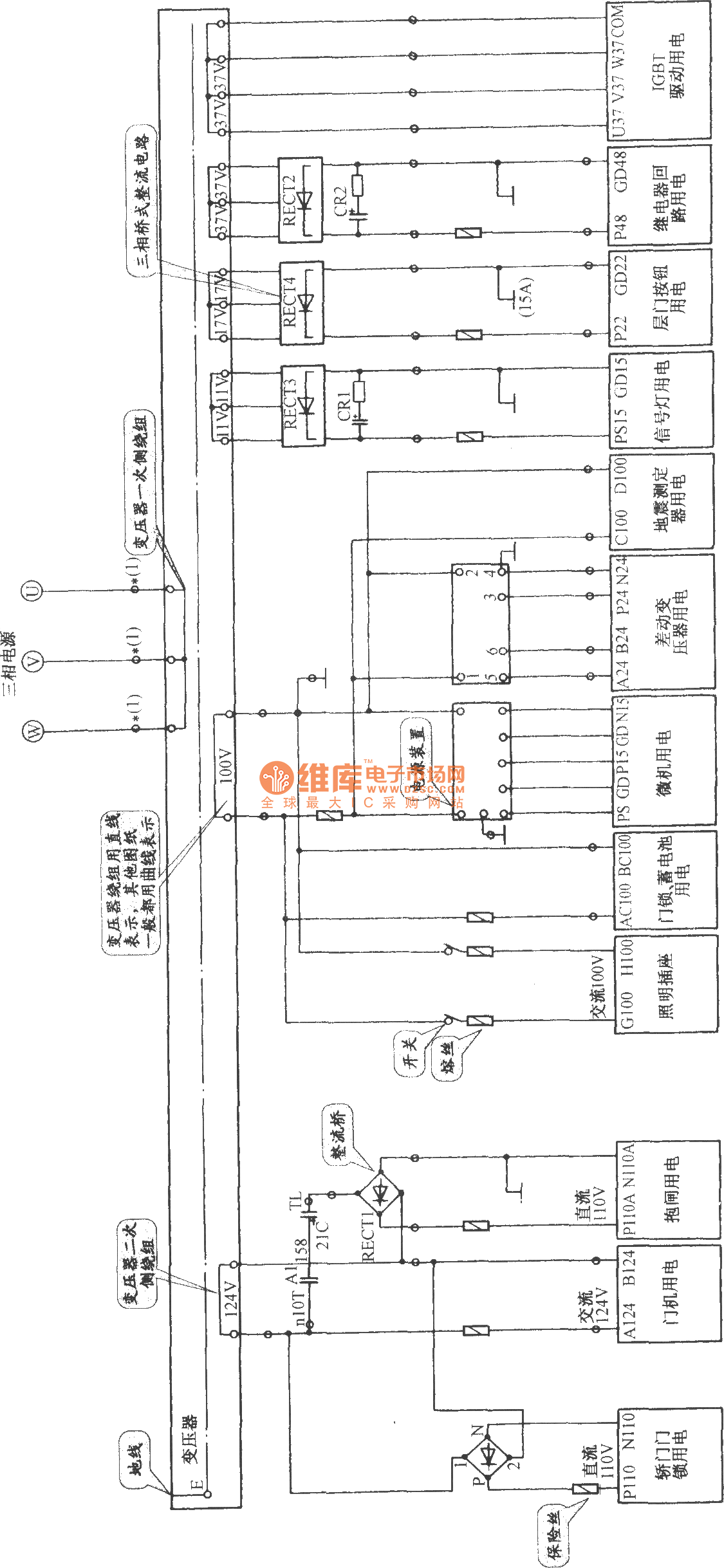 Hitachi Vfmg Elevator Control Power Circuit