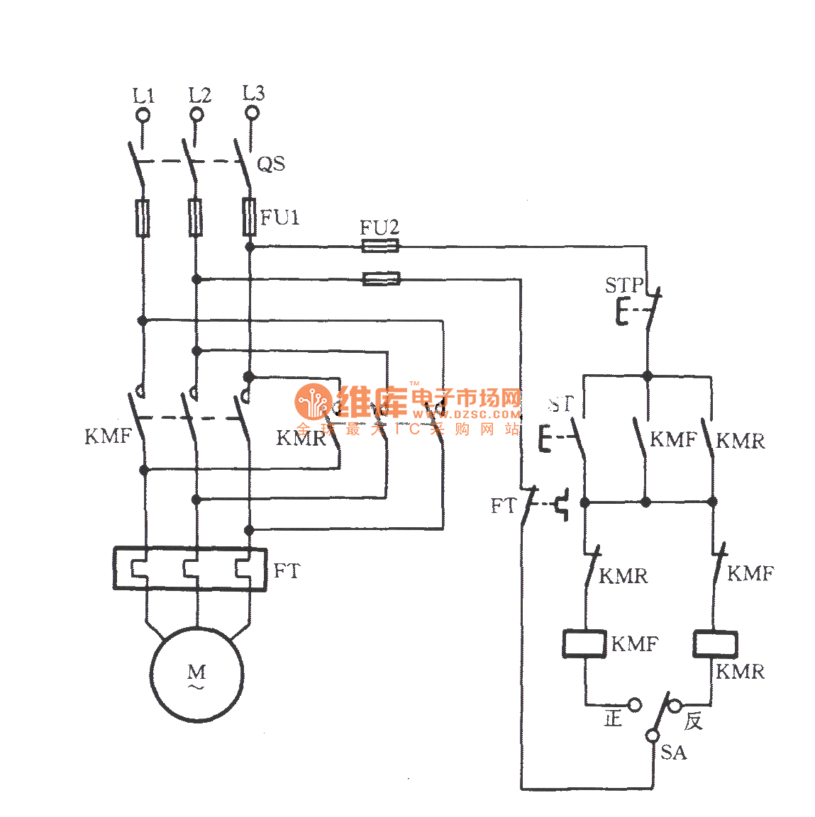Three Phase Motor With Pre Selection Switch Commutation Circuit