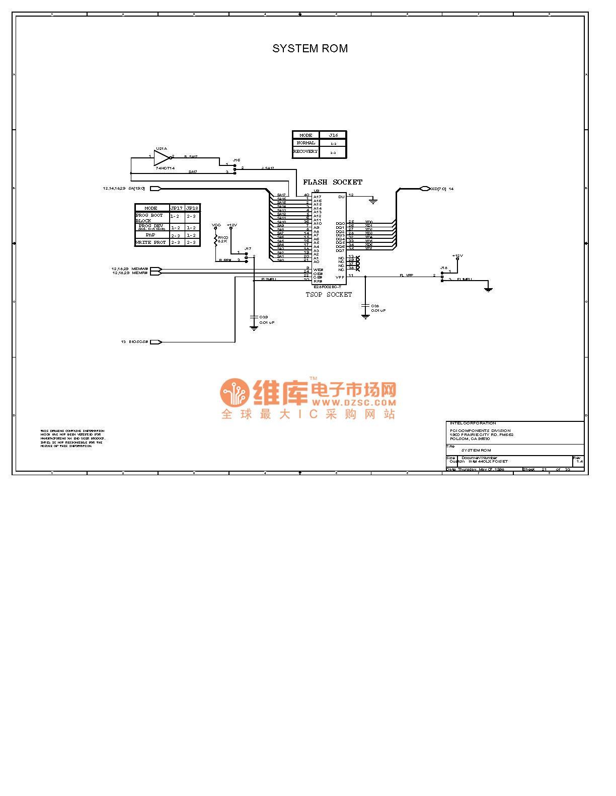 Computer Motherboard Circuit Diagram 440lx2 21