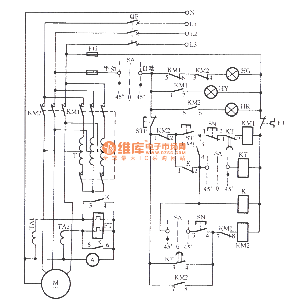 Vertical Mill Electrical Control Circuit
