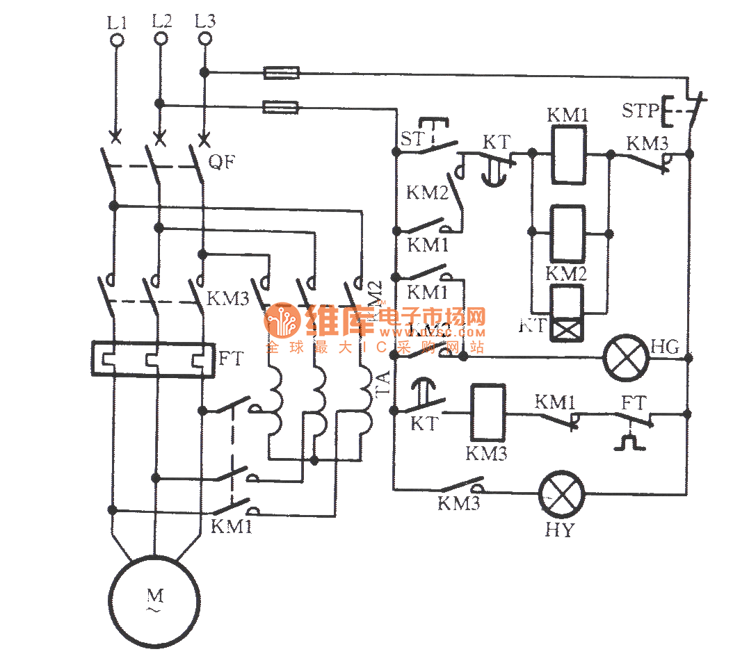 The Self Coupled Step Down Starting Circuit Of Avoid Main
