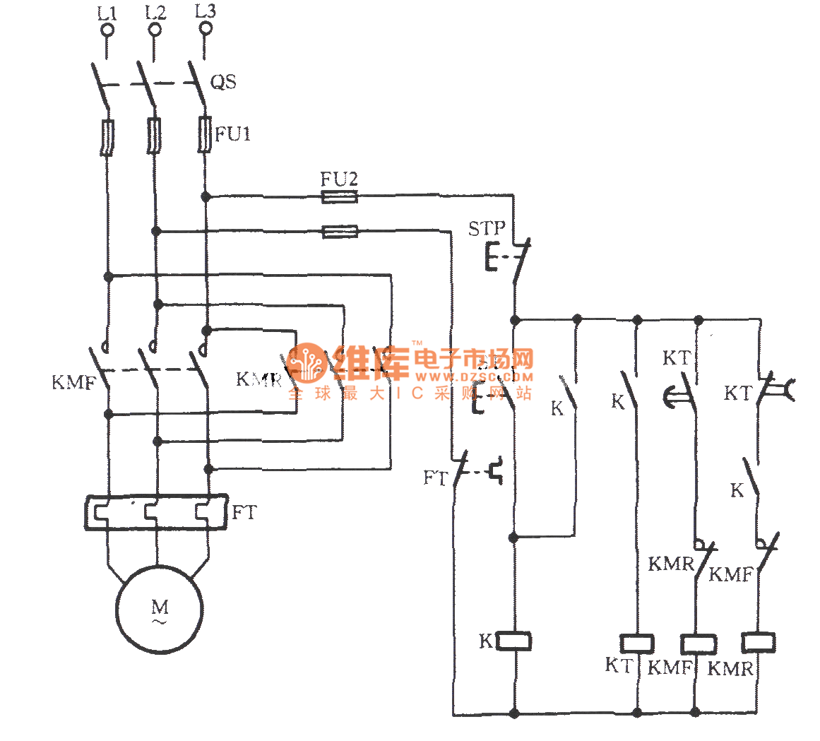 Three Phase Motor Transistor Automatic Limiting Reversing