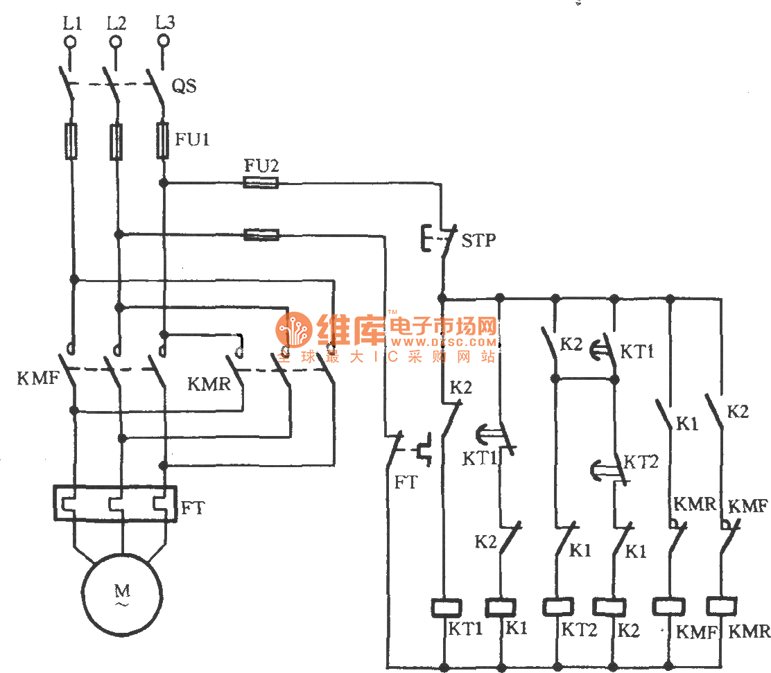 3 Phase Motor Auto Starter Circuit Diagram