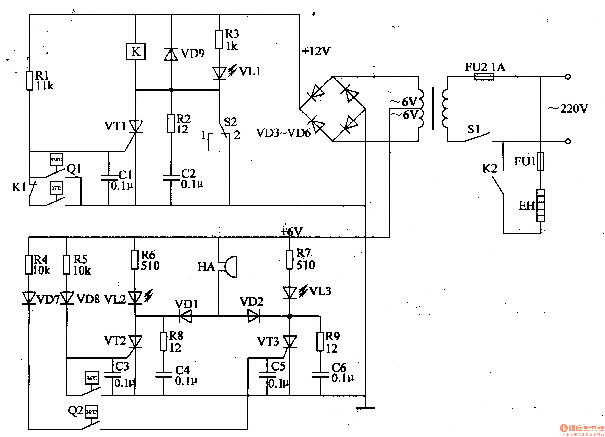 Eggs Hatching Incubator Circuit Diagram 4