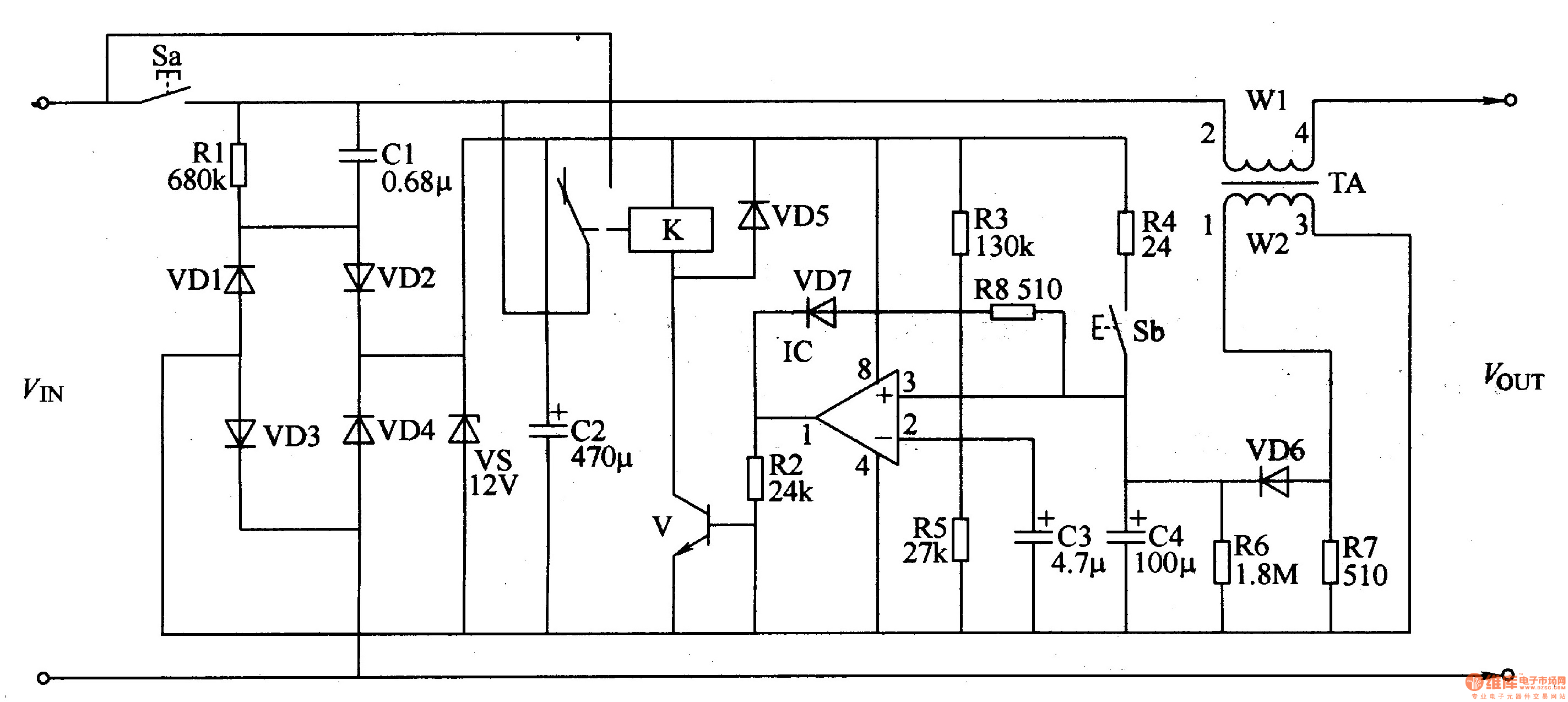 Microwave Turn Off Delay Device
