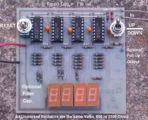 Digital UpDown Counter with CD40110BE  Basic_Circuit