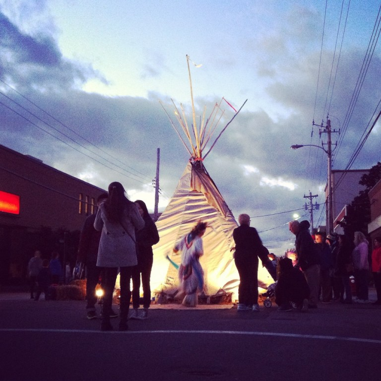 Mi'kmaq at Lumiere Art at Night Festival