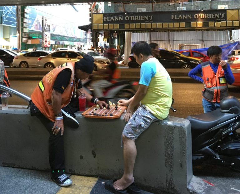 Bangkok Chess break on Silom Road