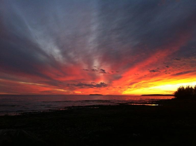 Sunset on the Great Slave Lake, Ft Resolution, Northwest Terroritories
