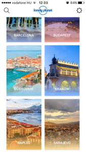Lonely Planet Guide App screenshot