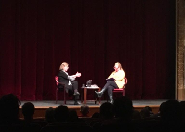 Elizabeth May speaking at UBC