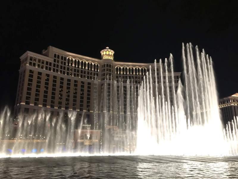 Enjoying the Bellagio fountains on my staycation