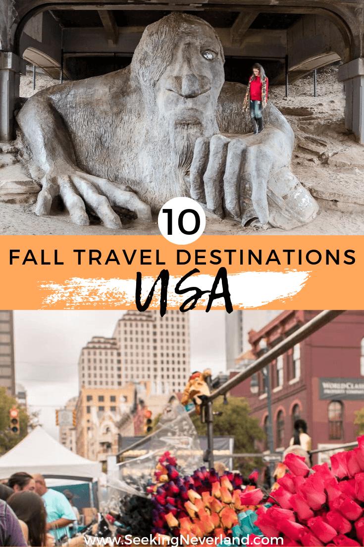fall travel destinations in america
