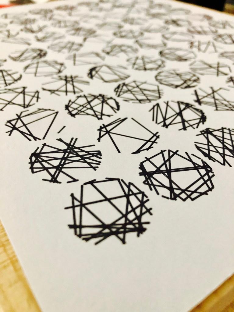Pen Plotting Generative Art Random Circles p5js