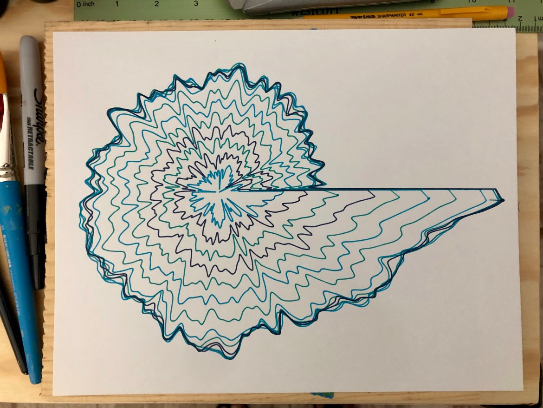 sound wave visualization pen plot p5.js