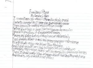 Emotional Pizza Poem