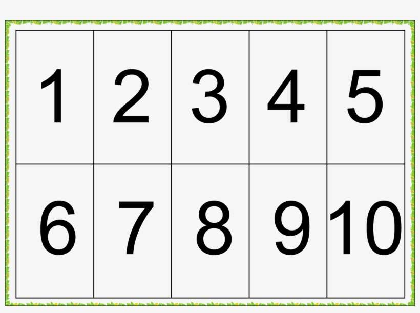 1 To 10 Numbers Free Picture Png Numbers 1 10 Printable Png Image Transparent Png Free Download On Seekpng