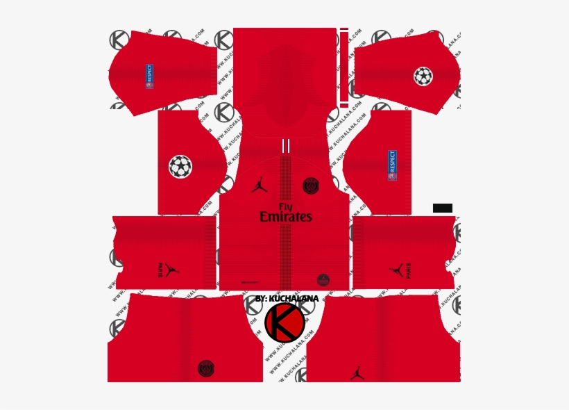 dream league soccer kits psg 2019 png