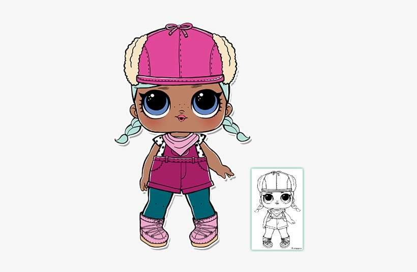 Lol Surprise Doll Coloring Pages Page 9 Color Your Brrr Bb Lol Doll Png Image Transparent Png Free Download On Seekpng