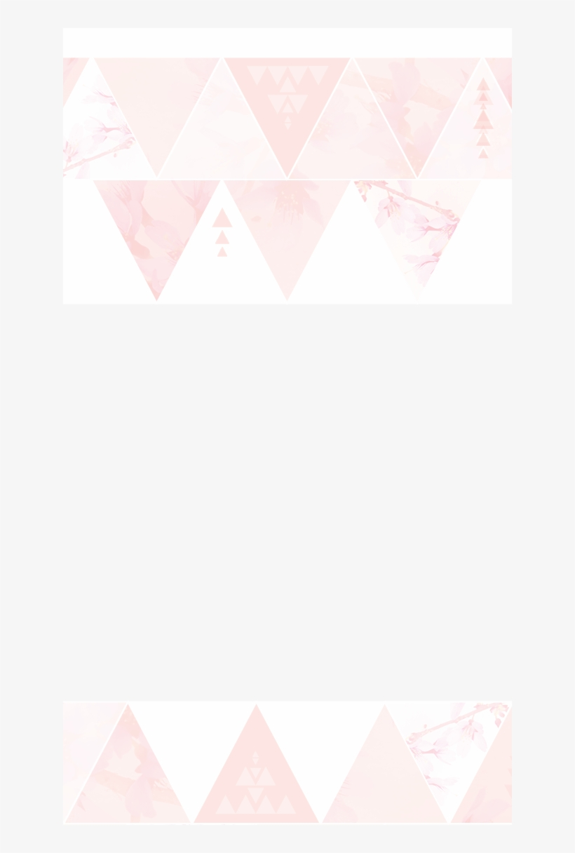 minimal pink watercolour triangles