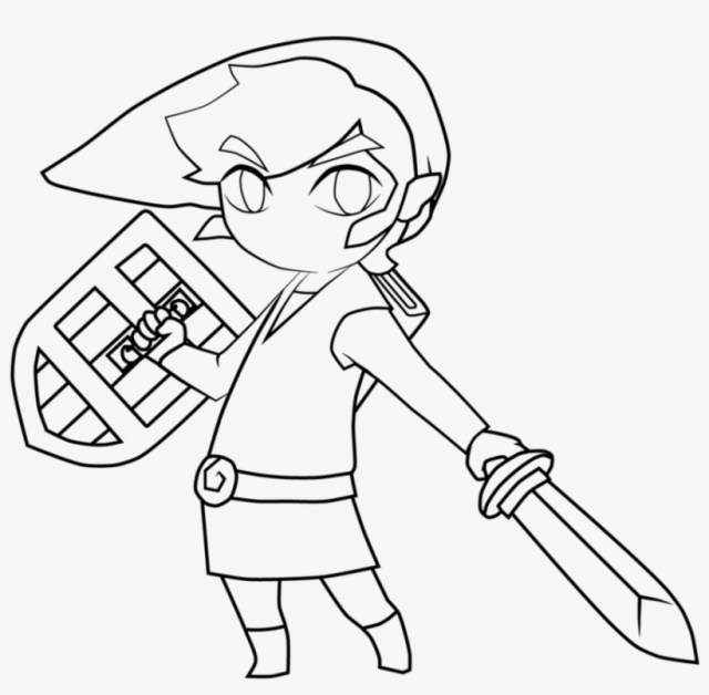 Toon Link Toon Link Black And White