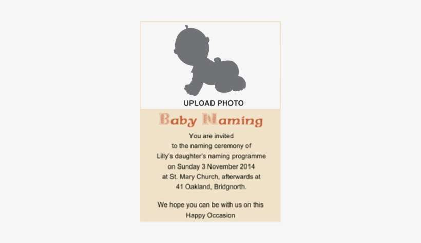 baby naming ceremony invitation cards