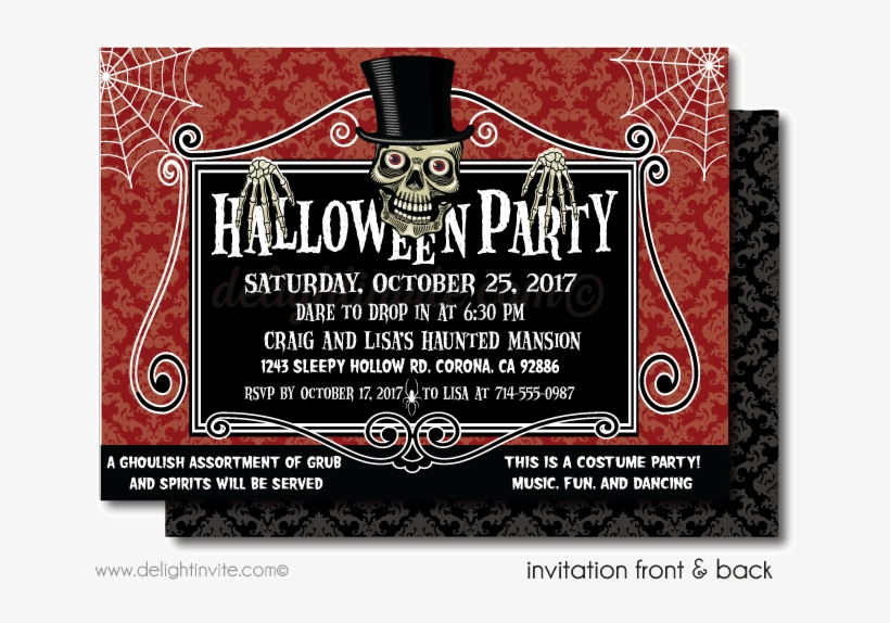 (this was a question over in answers, but frollard brilliantly suggested that it would be better as a discussion here)there's a halloween party next month for residents of my housing complex, which is for elderly and disabled pe. Spooky Skeleton Halloween Party Invitations Spooky Halloween Party Invites Png Image Transparent Png Free Download On Seekpng