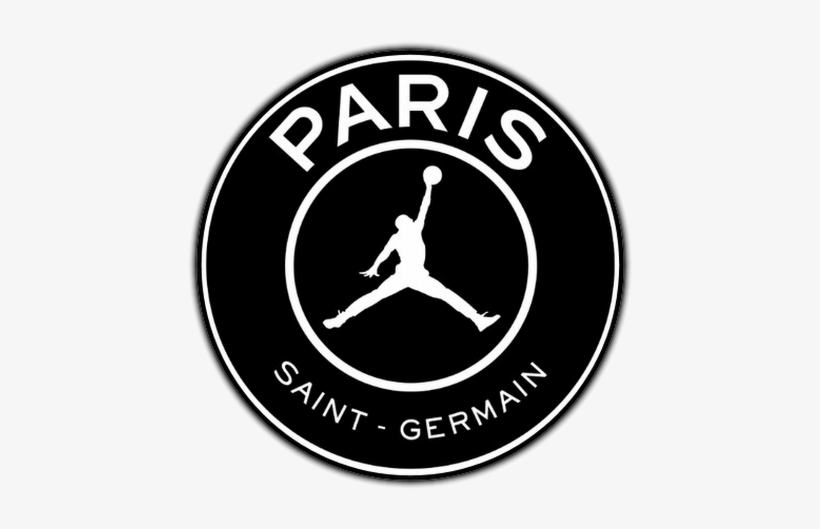 paris saint germain air jordan logo png