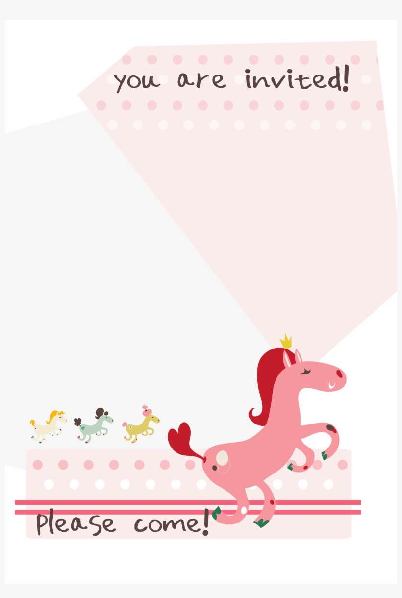 birthday pony free printable invitation