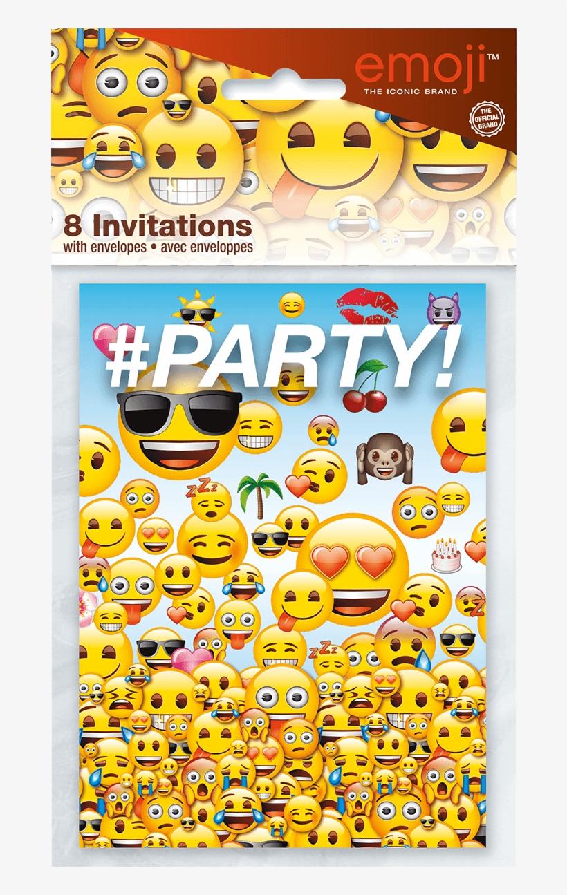 emoji party invite packaged birthday