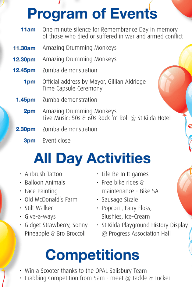 7th birthday party programme sample