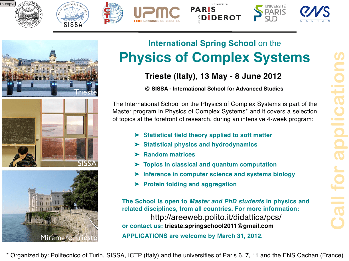 Spring School on the Physics of Complex Systems @ SEENET-MTP