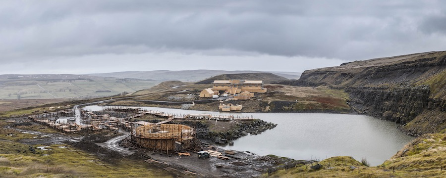 The show's purpose-built set takes shape. Image: ITV