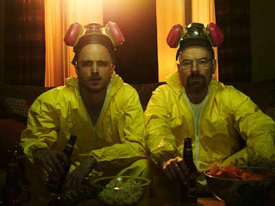 Jesse Pinkman (Aaron Paul) and Walter White (Bryan Cranston) - Breaking Bad - Gallery . Photo: Frank Ockenfels/AMC