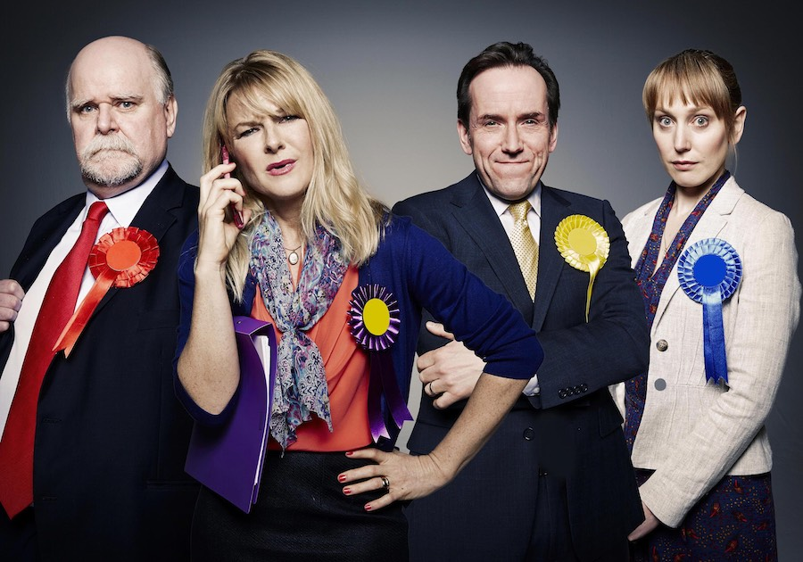 Left To Right - Jack Pardew (Trevor Cooper), Kate Standen (Sarah Hadland),  Kevin Sturridge (Ben Miller) and Siobhan Hope (Hattie Morahan). Image: Channel 4