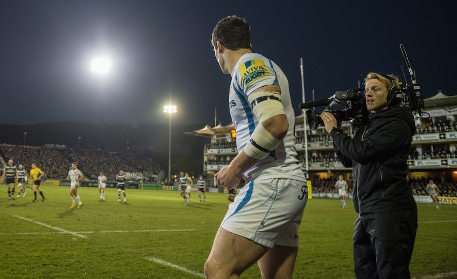 BT Sport coverage of the Aviva Premiership Rugby. Image: BT