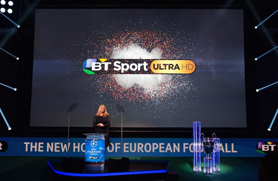 Delia Bushell, managing director of BT TV and BT Sport at the launch of BT Sport Ultra HD