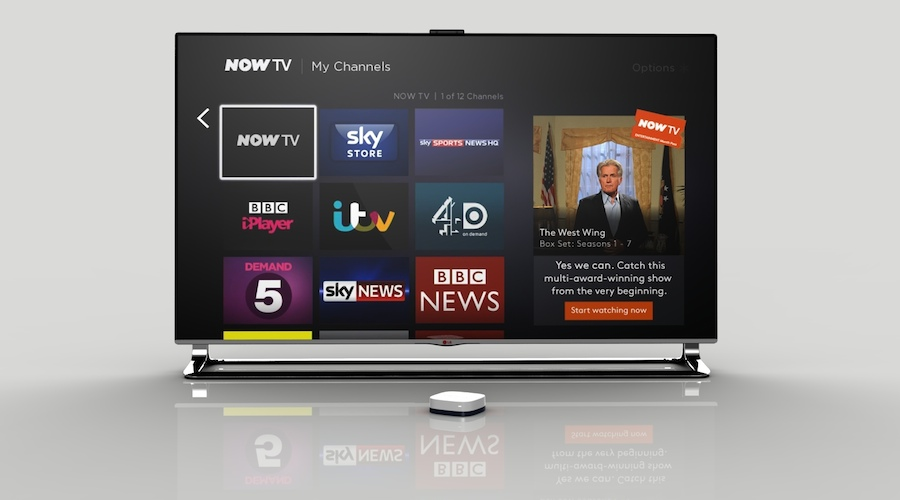 Investment in connected services such as NOW TV is helping Sky's growth.