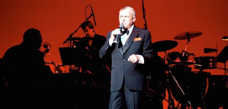 Frank Sinatra sings to a sellout crowd at the Warner Theater in Washington, D.C. on July 21, 1991.