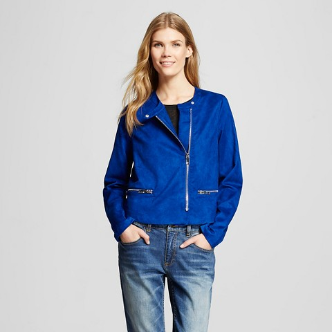 WhoWhatWear for Target_Womens Moto Jacket Blue