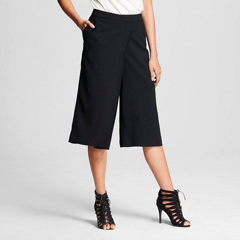 WhoWhatWear for Target_Womens Wrap Front Culotte Black