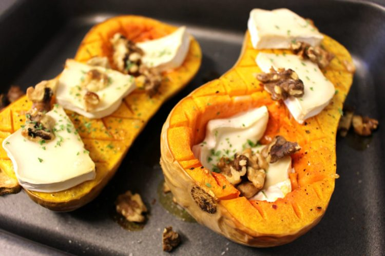 baked-butternut-squash-with-goat-cheese-and-walnuts