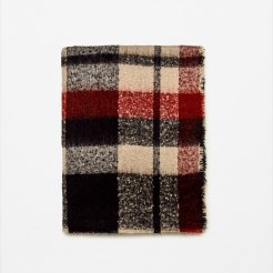 zara-soft-check-scarf-black-red