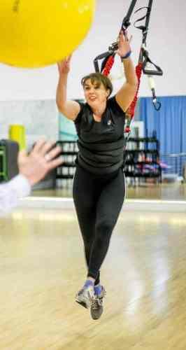 RP - Simona Meier - Bungee Fitness im Seestern Fitnessclub Süd