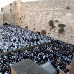 Crowds at Western Wall during Sukkot, the Feast of Tabernacles (Seetheholyland.net)