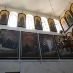 Gospel scenes and icons of saints in St Alexander Nevsky chapel (Seetheholyland.net)