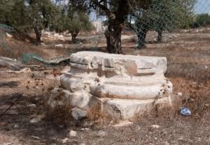 Base of column at Kathisma church (Seetheholyland.net)